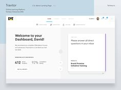 Hey guys,  Let me share some designs from one of the biggest projects I was working on at Fantasy back in 2016.  Travitor is a web-based learning management system (LMS) which allows users to uploa...