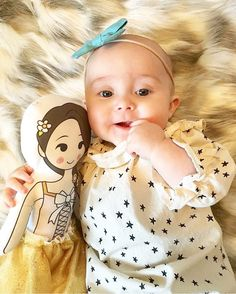Best friends! Love this adorable pic of baby girl @avelingrace with our darling doll.