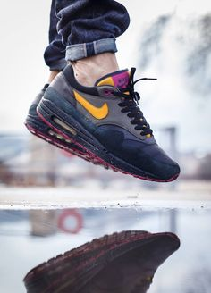 Nike Air Max 1 'Huarache Pack' (by Julien Papoo... – Sweetsoles – Sneakers, kicks and trainers. On feet.