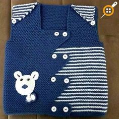 Modern Baby Boy Vest section of information related to. Baby Boy Knitting Patterns, Knitting For Kids, Crochet For Kids, Baby Patterns, Knit Patterns, Crochet Baby, Knitting Blogs, Vogue Knitting, Knitting Socks