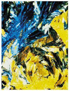 Blue and Yellow Painting-Digital Download-ClipArt-ArtClip-Digital Art
