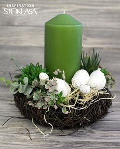 Candle Decorations, Pillar Candles, Spring, Xmas, Easter Activities, Candles