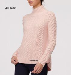 Вязаный свитер спицами от Ann Tailor - СХЕМЫ http://mslanavi.com/2016/10/vyazanyj-sviter-spicami-ot-ann-tailor/