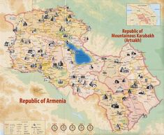 Historical Monuments of Armenia and Nagorny Karabakh Map