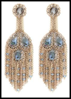 Theia crystal and chain chandelier earrings. These would have the most amazing movement.