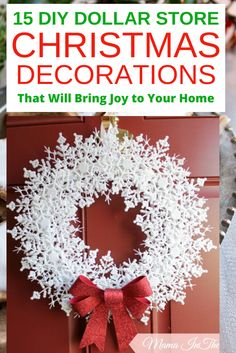 15 Best DIY dollar store Christmas decorations that are so magical. Ultimate 15 cheap and easy DIY dollar store Christmas decorations bring joy to your home Dollar Tree Christmas, Merry Christmas Sign, Christmas Snow Globes, Christmas Diy, Xmas, Christmas Cookies, Christmas Candle Holders, Christmas Mason Jars, Diy Christmas Decorations For Home