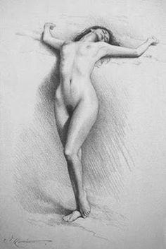 Cuadros Modernos Pinturas y Dibujos : Dibujos Prohibidos A Lápiz De Mujeres Desnudas, Andrew Lattimore