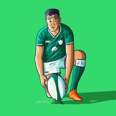 Johnny Sexton Ireland and Leinster Rugby - - - Leinster Rugby, Six Nations, Doodle Art, Digital Illustration, Perspective, Ireland, Irish, Doodles, Sketch