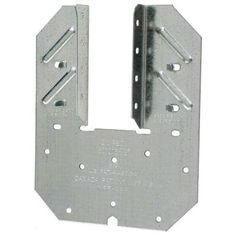 Simpson Strong-Tie - Saddle Rafter Tie Galvanized Steel - It is a wind and seismic tie for trusses and rafters. It is designed to help resist uplift forces and has double shear staggered nailing for lateral resistance. Hurricane Ties, Deck Framing, Nails And Screws, Wood Shed, Industrial Hardware, Nail Patterns, Shelf Brackets, Home Hardware