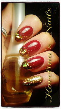 Luxury Christmas Nails -bellashoot.com