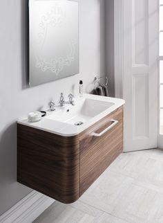 Celeste American Walnut Bathroom Furniture Unit & Basin from Crosswater http://www.bauhaus-bathrooms.co.uk/product/celeste-american-walnut/celeste-80-unit-and-basin-american-walnut/