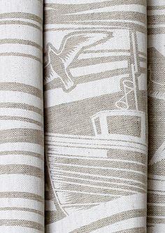 Image of Whitby Fabric - White. Mini Moderns