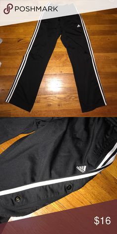 Adidas sweat pants Button down the sides athletic sweatpants Adidas Pants Track Pants & Joggers