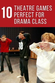 10 Theatre Games Perfect For Drama Class - Theatre Nerds : 10 Theatre Games Perfect For Drama Class We Are Thespians! Theatre Games, Drama Theatre, Teaching Theatre, Theatre Nerds, Theatre Auditions, Children's Theatre, Drama Games For Kids, Drama Activities, Improv Games For Kids