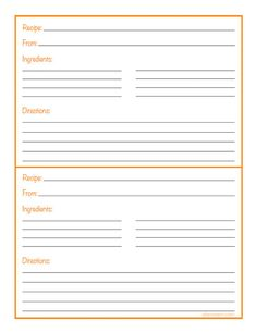 recipe binder short page printable type ready editable - Free Editable Recipe Card Templates For Microsoft Word