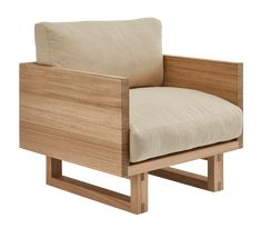 Be seated in comfort and style with solid timber construction that's designed to last. Outdoor Chairs, Outdoor Furniture, Outdoor Decor, Interior Inspiration, Living Spaces, House Plans, Armchair, Cushions, Lounge