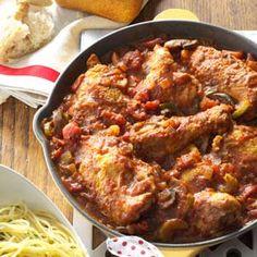 Chicken Cacciatore Recipe from Taste of Home