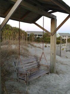 The Adams Cottage - Film location of The Last Song. Winter Road, The Last Song, Tybee Island, Filming Locations, Porch Swing, Outdoor Furniture, Outdoor Decor, Savannah Chat, Charleston