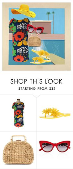 """""""Pool Time"""" by dita-west-grand ❤ liked on Polyvore featuring Marimekko, Melissa, Kayu and Dolce&Gabbana"""