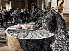 Van Herpen Fabricates Dress onto Game of Thrones Actress at Paris Fashion Week