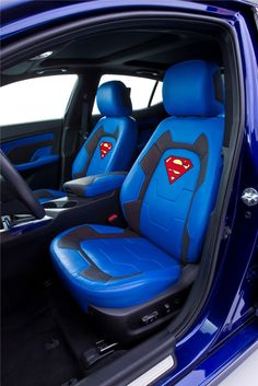 """The Superman-themed Optima Hybrid is the sixth of eight customized Kia vehicles representing characters from the Justice League to benefit DC Entertainment's """"We Can Be Heroes"""" Superman Man Of Steel, Superman Wonder Woman, Batman And Superman, Superman Stuff, Superman Gifts, Kia Optima, Kia Motors, Joker And Harley Quinn, Batmobile"""