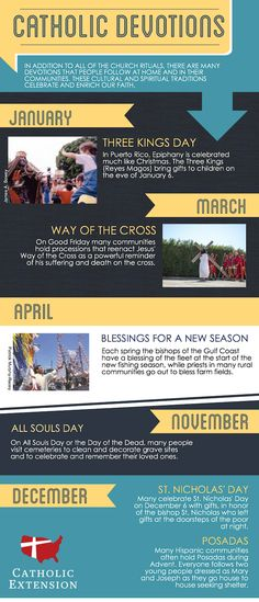 Learn more about Catholic Devotions for each season in this helpful infographic.