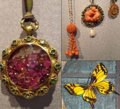Amazing Federico De Vera re-works of vintage pieces combined with rose-cut colored stones.
