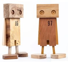 "Brooklyn-based furniture and woodworker Daniel Moyer uses leftover scrap wood to build minimalistic toys under the brand fdup.toys. The first series was a quirky edition of superheros to which he's since followed up with a fun duck sidekick. Moyer calls the project ""a small scale produc"