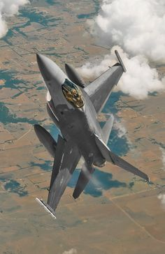 Chase F-16 goes vertical during an operational check flight from Lockheed Martin in Fort Worth, Texas.
