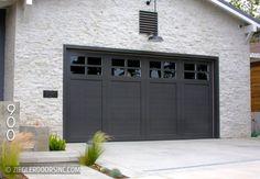 Farmhouse Wood Garage Doors by Ziegler Doors, Inc. Grey Garage Doors, Garage Door Colors, Garage Door Windows, Garage Door Styles, Garage House, Garage Door Makeover, Garage Door Design, Modern Farmhouse Exterior, Farmhouse Door