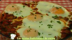 huevos al horno con verduras