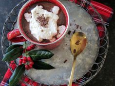 Once Upon A Chocolate Life: Decadent Spiced Bourbon Hot Chocolate Spiked Hot Chocolate, Hot Chocolate Recipes, Chocolate Bourbon, Champagne Cocktail, Christmas Desserts, Mojito, Tis The Season, Margarita, Cocoa