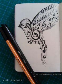 Reto 31 Días 31 Dibujos Reglas oficiales de InkTober: Haz un dibujo en tinta (crea un boceto a lápiz si lo necesitas). Publica en tu blog y/o redes sociales (Twitter, Google+, Facebook, Flickr, Pin…