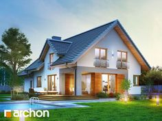 Detached house for happy families - Haus - Home Gym New Home Designs, Home Design Plans, Plans Architecture, Architecture Design, Rustic Houses Exterior, Craftsman Houses, Classic House, Home Fashion, Exterior Design