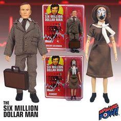 Six Million Dollar Man Oscar Goldman & Fembot Action Figures #BifBangPow #ActionFigures