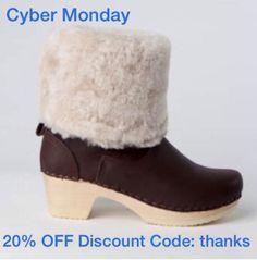 Cyber Monday - Sven Clogs 20% OFF Discount Code: thanks www.svensclogs.com Sven Clogs - Google+