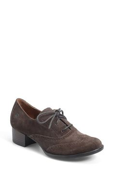 Free shipping and returns on Børn 'Naleigh' Oxford Pump (Women) at Nordstrom.com. Lavish suede softens a menswear-inspired oxford pump detailed with classic broguing and lifted by a low, block heel. Flexible, lightweight Opanka construction ensures superior comfort.