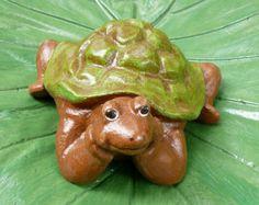 Whimsical Turtle Cement/Concrete Figurine/Garden Statue