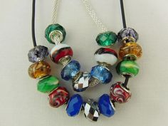 Multi Coloured Lampwork Bead 2 Piece Jewellery by OswestryJewels
