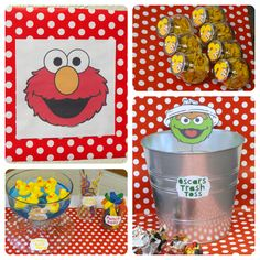 A Little Tipsy used her Cricut to create these darling Sesame Street images for a birthday party!