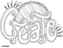 Word Coloring Pages...Create