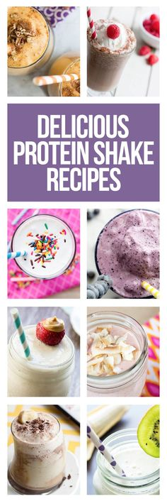 Your Day with Protein: 14 Protein Shake Recipes Enjoy these tasty, high-protein shakes!Enjoy these tasty, high-protein shakes!Up Your Day with Protein: 14 Protein Shake Recipes Enjoy these tasty, high-protein shakes!Enjoy these tasty, high-protein shakes! Weight Loss Smoothie Recipes, Protein Shake Recipes, Fruit Smoothies, Diabetic Smoothies, High Protein Smoothies, Simple Smoothies, Breakfast Smoothies, Smoothie Drinks, Pancakes Protein