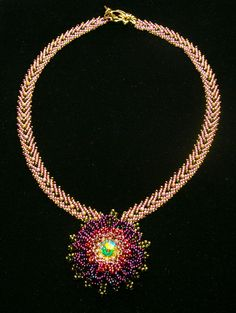 Bead Show: Bead Show Workshops & Classes: Thursday June 6, 2013: B130232 TOHO Beads Presents: Gerbera Pendant Necklace