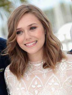 Elizabeth Olsen - love this style and colour