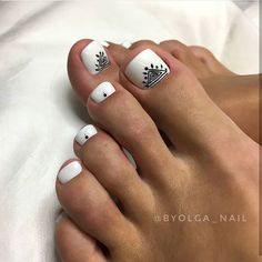 Simple Nail Art Designs That You Can Do Yourself – Your Beautiful Nails Simple Toe Nails, Cute Toe Nails, Super Cute Nails, Pretty Nails, Nail Ink, Toe Nail Art, Nail Manicure, Pedicure Designs, Toe Nail Designs