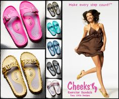 Tony's new Cheeks® Exercise Sandals have unique design to firm your legs and buttocks with every step. Consumer Products, Personal Trainer, Affiliate Marketing, Birkenstock, Trainers, Exercise, Leis, Sandals, Health
