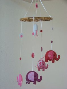 Baby Mobile Crib Elephant Nursery Room Elephants Parade