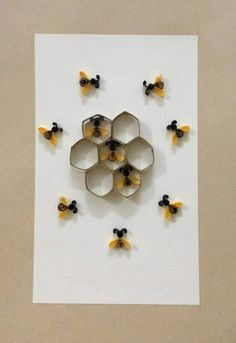 Quilled Beehive And Bee Tutorial