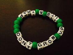 Don't Grow Up It's a Trap Peter Pan Kandi Bracelet by KandilandUSA