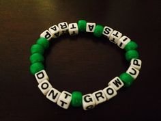 Don't Grow Up It's a Trap Peter Pan Kandi Bracelet by KandilandUSA